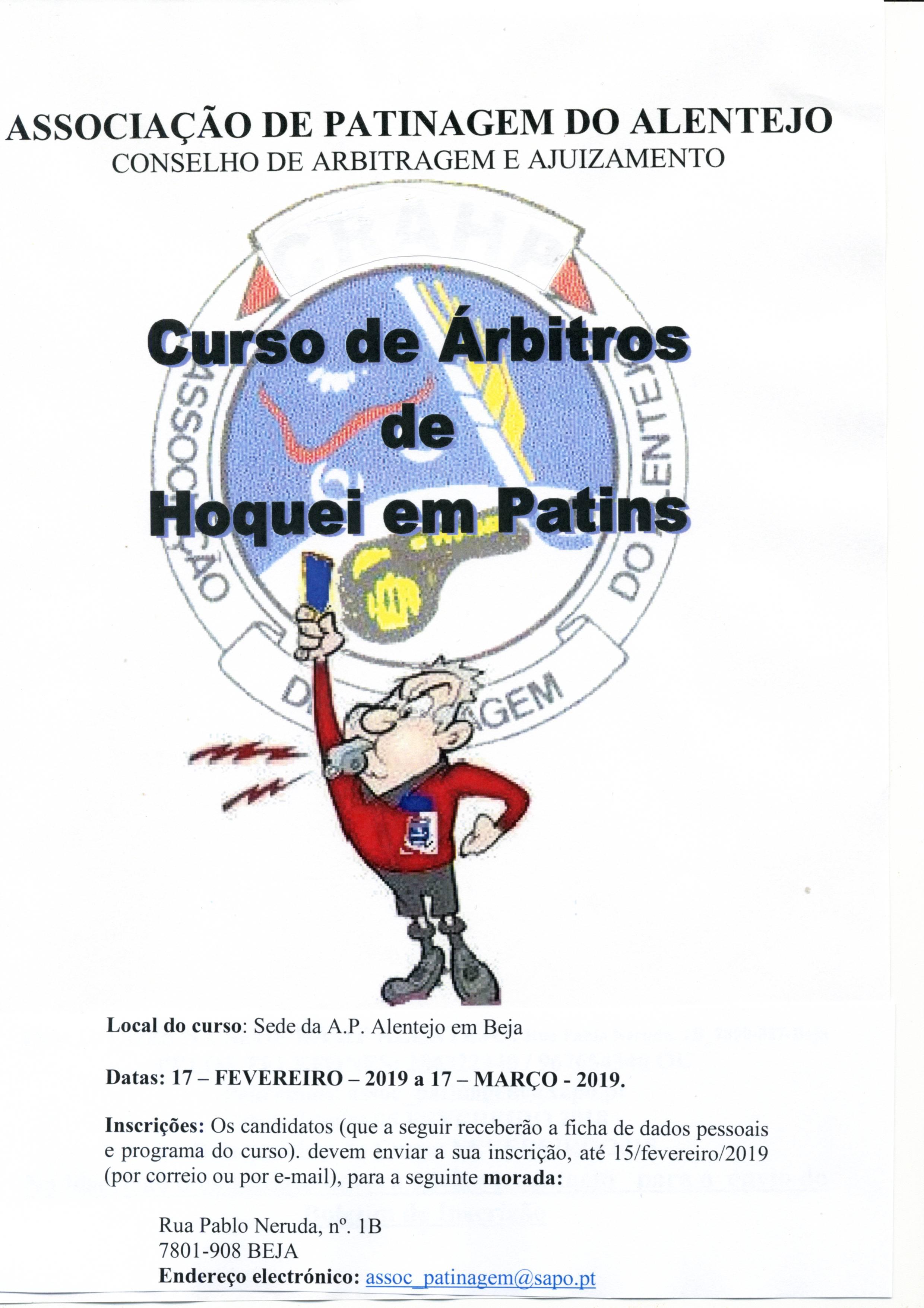 Curso de Árbitros de Hóquei em Patins